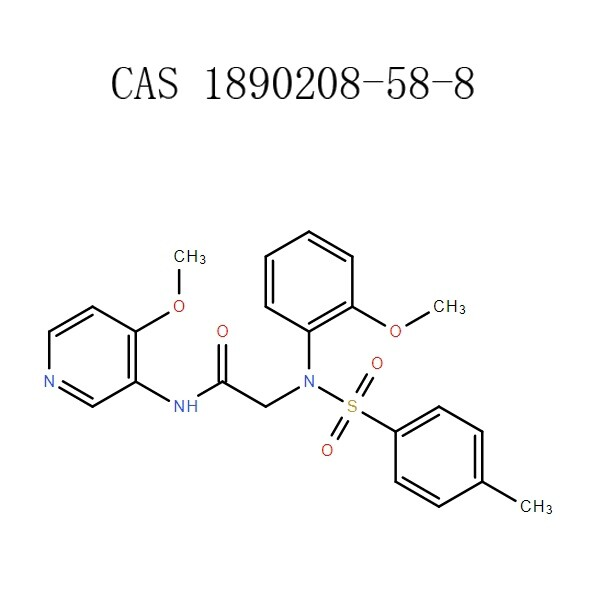 2-[(2-methoxyphenyl)[(4-methyl phenyl) sulfonyl] amino]-N-(4-methoxy-3-pyridinyl) acetamide (1890208-58-8) PHCOKER