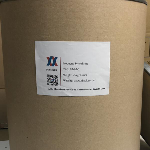 Raw Synephrine powder (97-07-5) Produttori - Phcoker Chemical